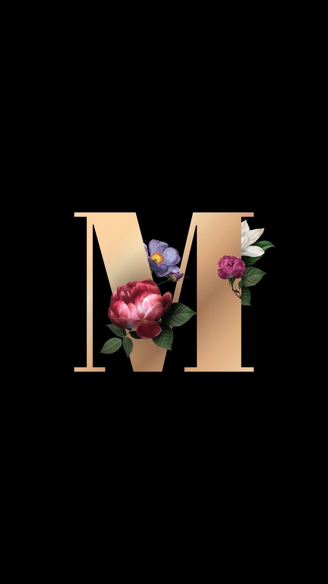 خلفيات ايفون حرف M مربع