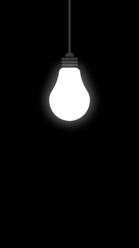 iphone wallpapers hd خلفيات ايفون أيفون خلفيات سوداء ضوء لمبة