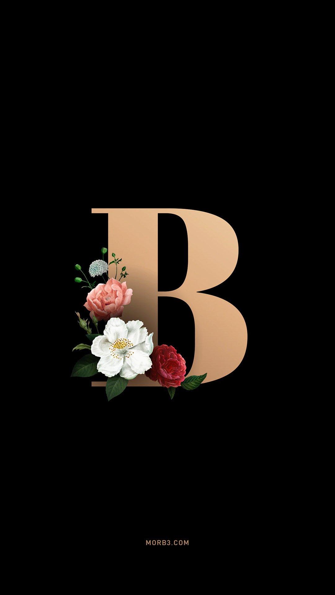 خلفيات ايفون حرف B مربع