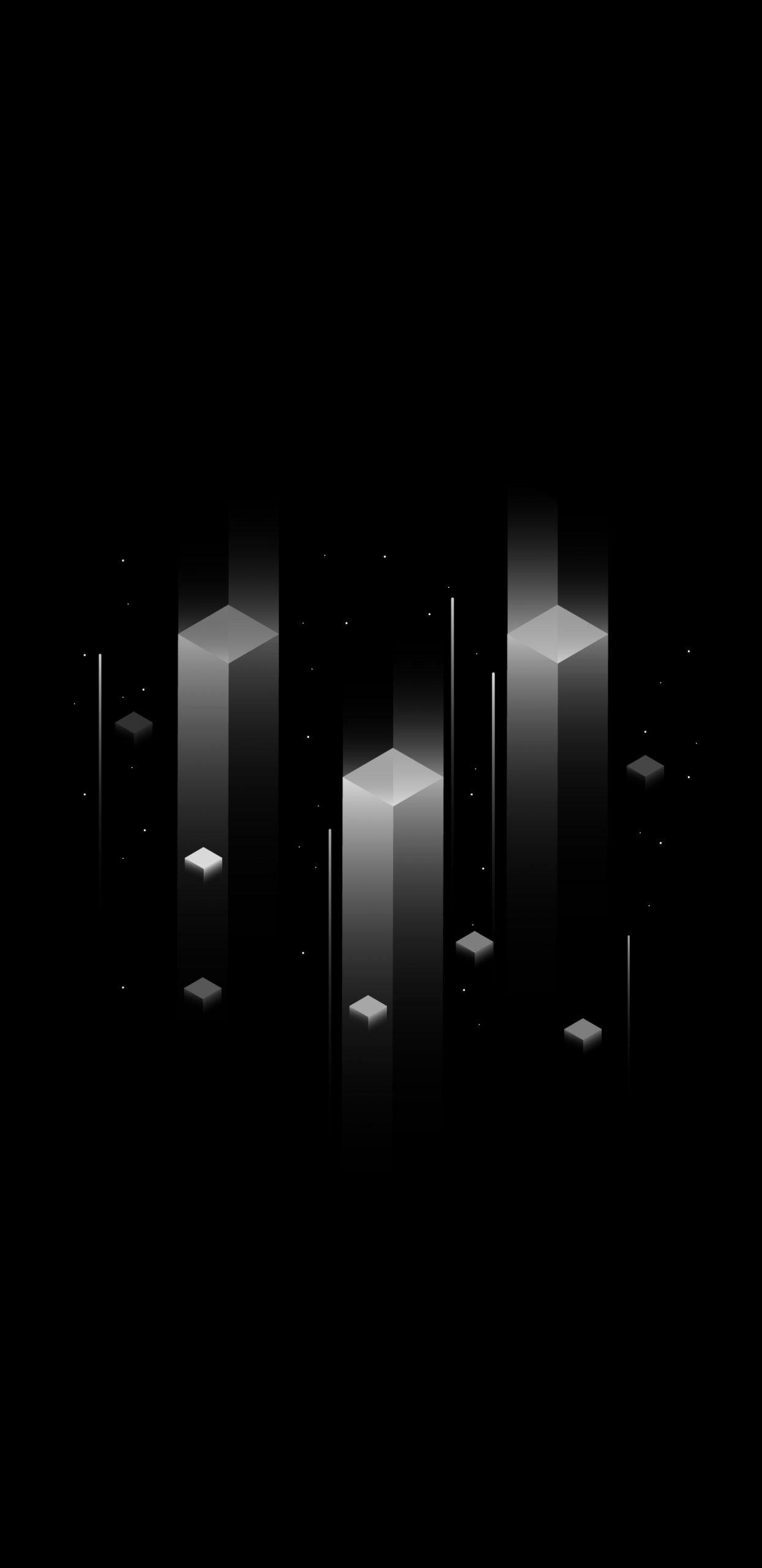 خلفيات ايفون سوداء 3d مربع