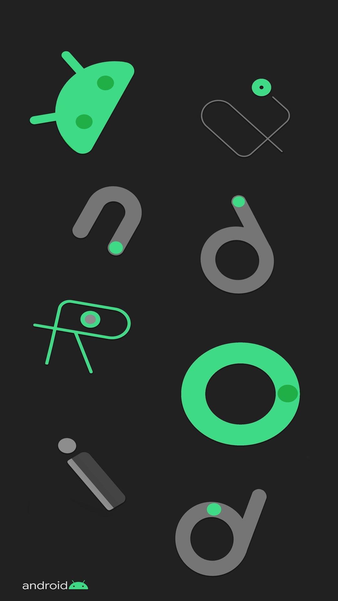 خلفيات شعار اندرويد روعة مربع