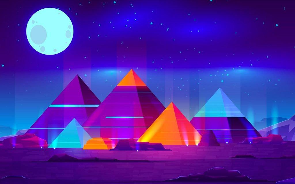أجمل خلفيات اهرامات الجيزة ملونة روعة egyptian pyramids