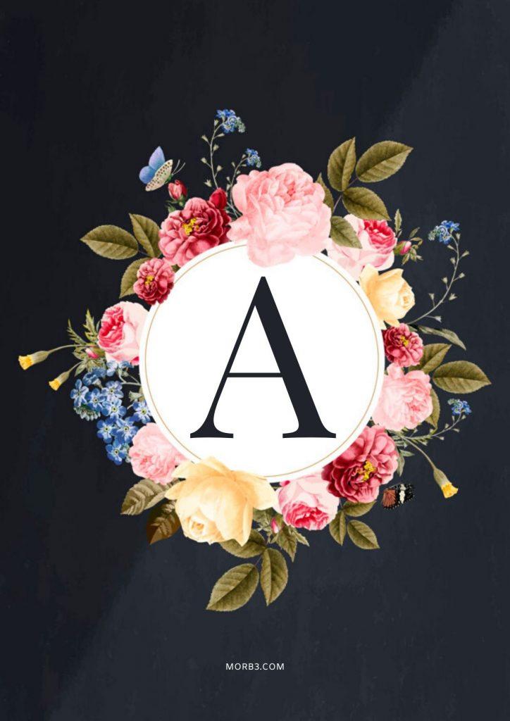 اجمل صور حرف A تصميمات وزخارف