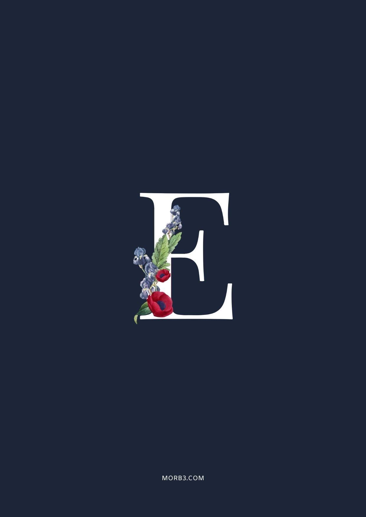 مزخرفة حرف E رومنسي