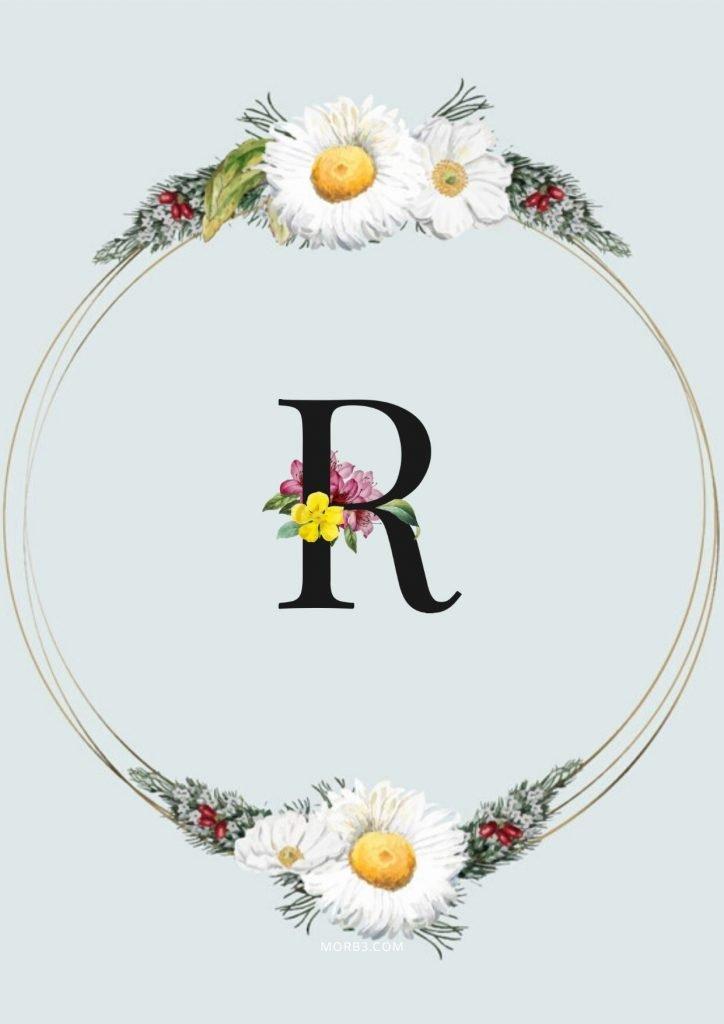 خلفيات حرف R رومانسيه