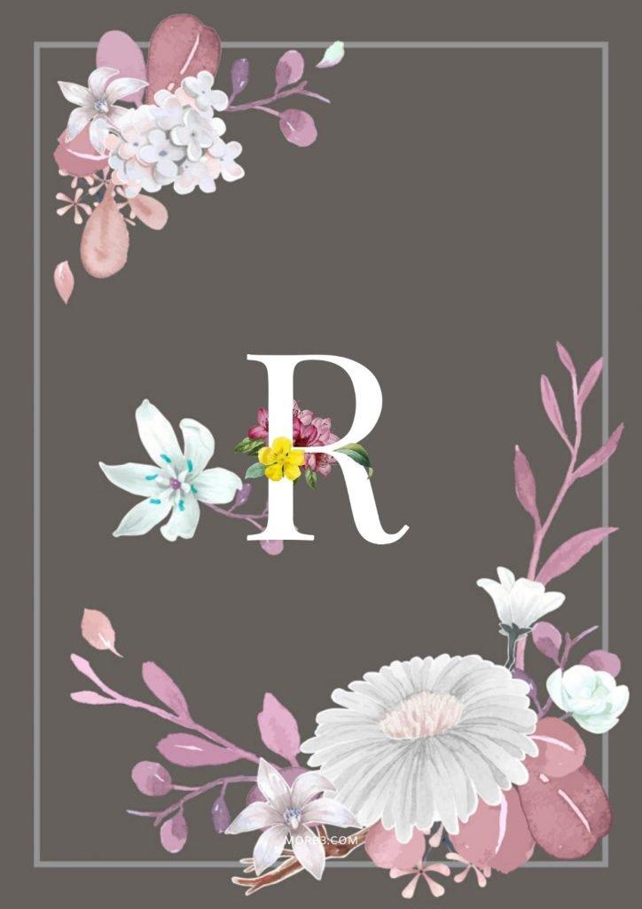 مكتوب عليها خلفيات حرف R رومانسية